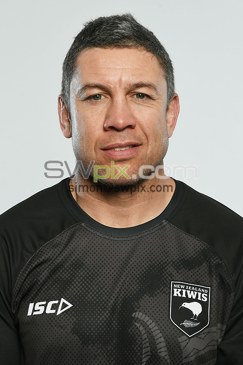 Nathan Cayless, Headshots of the New Zealand Kiwis rugby league team, Auckland, New Zealand. 7 October 2018.<br /> Copyright photo: Andrew Cornaga / www.photosport.nz - ©PhotosportNZ/SWpix.com