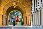 Cathy Bullock with 4th year MD student Chantelle Bowden at Stanford University, Stanford, California, on March 16, 2016.