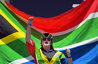 A South Africa fan. Day one of the 2020 HSBC World Sevens Series Hamilton at FMG Stadium in Hamilton, New Zealand on Saturday, 25 January 2020. Photo: Dave Lintott / lintottphoto.co.nz