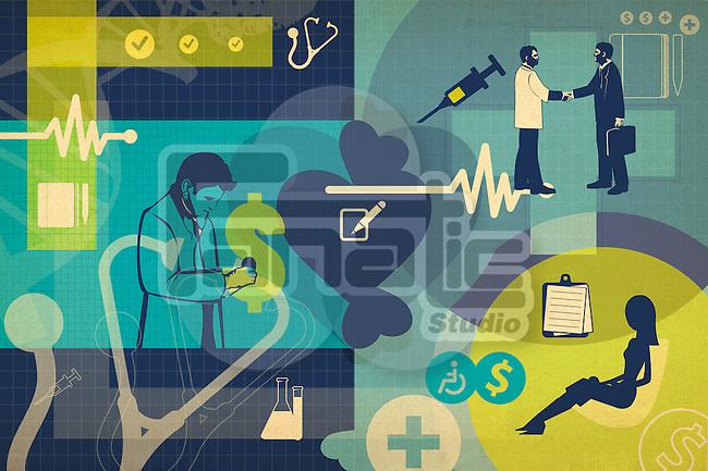 Illustrative representation of healthcare