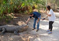 Orlando, FL - February 20, 2018: Members of the USWNT visited Gatorland while in Orlando, Florida.