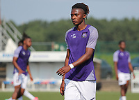 Chris-Emmanuel Lokesa (10) of Anderlecht  pictured during the warm up before a friendly soccer game between K Londerzeel SK and RSC Anderlecht Reserves during the preparations for the 2021-2022 season , on Wednesday 21st of July 2021 in Londerzeel , Belgium . PHOTO SEVIL OKTEM   SPORTPIX