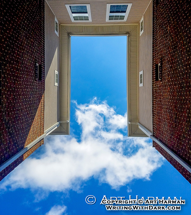 """""""Doorway to the Sky"""" by Art Harman. This surreal view looks like a gateway--or a stargate-to another world. Dare you take a step forwards?"""
