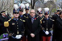 Nov 11, 2012 - Montreal, Quebec, CANADA -  Remembrance Day - Bruno Clerc, French Consul in Montreal