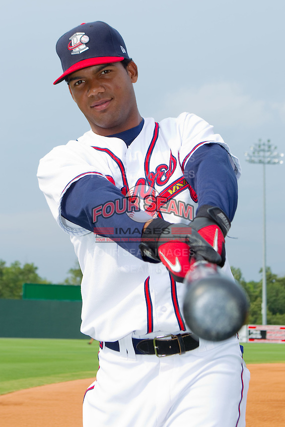 Edward Salcedo #15 of the Rome Braves at State Mutual Stadium July 24, 2010, in Rome, Georgia.  Photo by Brian Westerholt / Four Seam Images