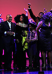 Berry Gordy, Diana Ross, Raymond Luke Jr., Brandon Victor Dixon  & Mary Wilson during the Broadway Opening Night Performance Curtain Call for 'Motown The Musical'  at the Lunt Fontanne Theatre in New York City on 4/14/2013..