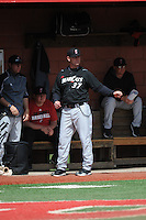 University of Cincinnati Bearcats manager Ty Neal (37) during a game against the Rutgers University Scarlet Knights at Bainton Field on April 19, 2014 in Piscataway, New Jersey. Rutgers defeated Cincinnati 4-1.  (Tomasso DeRosa/ Four Seam Images)