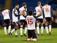 Bolton Wanderers' Jamie Mascoll celebrates scoring his side's third goal <br /> <br /> Photographer Andrew Kearns/CameraSport<br /> <br /> EFL Papa John's Trophy - Northern Section - Group C - Bolton Wanderers v Newcastle United U21 - Tuesday 17th November 2020 - University of Bolton Stadium - Bolton<br />  <br /> World Copyright © 2020 CameraSport. All rights reserved. 43 Linden Ave. Countesthorpe. Leicester. England. LE8 5PG - Tel: +44 (0) 116 277 4147 - admin@camerasport.com - www.camerasport.com