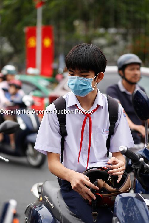 Le dernier jour de classe avant les vacances du TET en janvier 2020, Nha Trang, Vietnam
