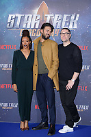 """Sonequa Martin-Green, Shazad Latif and producer, Aaron Harbets<br /> at the """"Star Trek Discovery"""" photocall, Millbank Tower,  London<br /> <br /> <br /> ©Ash Knotek  D3347  05/11/2017"""