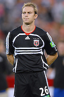 DC United defender Bryan Namoff (26) during the presentation of the temas. Los Angeles Galaxy defeated DC United 5-2, Saturday, August 26, 2006 at RFK Stadium.