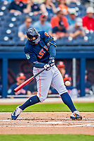 1 March 2017: Houston Astros outfielder George Springer in Spring Training action against the Miami Marlins at the Ballpark of the Palm Beaches in West Palm Beach, Florida. The Marlins defeated the Astros 9-5 in Grapefruit League play. Mandatory Credit: Ed Wolfstein Photo *** RAW (NEF) Image File Available ***