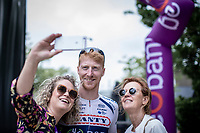 Frederik Backaert (BEL/Wanty Groupe Gobert) , pre race, selfie <br /> <br /> GP Marcel Kint 2019 (BEL)<br /> One Day Race: Kortrijk – Zwevegem 188.10km. (UCI 1.1)<br /> Bingoal Cycling Cup 2019