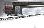 A completely snow covered M48 as the motorway enter Wales from the Severn Bridge.<br /> 13.01.10<br /> ©Steve Pope<br /> Sportingwales<br /> The Manor <br /> Coldra Woods<br /> Newport<br /> South Wales<br /> NP18 1HQ<br /> 07798 830089<br /> 01633 410450<br /> steve@sportingwales.com<br /> www.fotowales.com<br /> www.sportingwales.com<br /> ©Steve Pope<br /> Sportingwales<br /> The Manor <br /> Coldra Woods<br /> Newport<br /> South Wales<br /> NP18 1HQ<br /> 07798 830089<br /> 01633 410450<br /> steve@sportingwales.com<br /> www.fotowales.com<br /> www.sportingwales.com