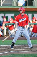 Alex Abbott (10) of the Orem Owlz at bat against the Ogden Raptors in Pioneer League action at Lindquist Field on June 27, 2016 in Ogden, Utah. Orem defeated Ogden 4-3. (Stephen Smith/Four Seam Images)