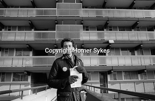Peter Tatchell seeks to be elected at the Bermondsey by-election South London to the Labour party as a MP. England. 1983