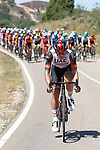 Joseph Dombrowski (USA) UAE Team Emirates ahead of the peloton during Stage 3 of La Vuelta d'Espana 2021, running 202.8km from Santo Domingo de Silos to Picon Blanco, Spain. 16th August 2021.    <br /> Picture: Luis Angel Gomez/Photogomezsport | Cyclefile<br /> <br /> All photos usage must carry mandatory copyright credit (© Cyclefile | Luis Angel Gomez/Photogomezsport)