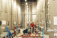 stainless steel tanks pumping over cellier des chartreux rhone france