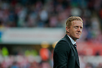 Saturday 20th September 2014  Pictured:  Garry Monk, Manager of Swansea City <br /> Re: Barclays Premier League Swansea City v Southampton  at the Liberty Stadium, Swansea, Wales,UK
