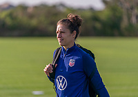 ORLANDO, FL - JANUARY 21: Carli Lloyd #10 of the USWNT arrives at the field before a training session at the practice fields on January 21, 2021 in Orlando, Florida.