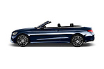 Car Driver side profile view of a 2017 Mercedes Benz C-Class AMG-Line 2 Door convertible Side View