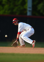 Lake Mary Rams shortstop Brendan Rodgers (3) during practice before a game against the Lake Brantley Patriots on April 2, 2015 at Allen Tuttle Field in Lake Mary, Florida.  Lake Brantley defeated Lake Mary 10-5.  (Mike Janes/Four Seam Images)