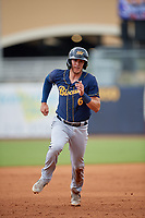 Montgomery Biscuits Tristan Gray (6) running the bases during a Southern League game against the Biloxi Shuckers on May 8, 2019 at MGM Park in Biloxi, Mississippi.  Biloxi defeated Montgomery 4-2.  (Mike Janes/Four Seam Images)