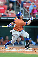 Durham Bulls catcher Ali Solis (44) at bat during a game against the Buffalo Bisons on July 10, 2014 at Coca-Cola Field in Buffalo, New  York.  Durham defeated Buffalo 3-2.  (Mike Janes/Four Seam Images)