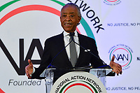 Washington, DC - January 20, 2020:  Rev. Al Sharpton speaks during a breakfast hosted by the National Action Network honoring the legacy of Dr. Martin Luther King, Jr on MLK Day January 20, 2020 at the Mayflower Hotel in Washington, DC.  (Photo by Don Baxter/Media Images International)