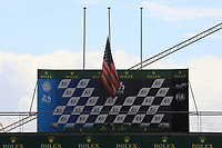 USA FLAG IN BERN ON THE PODIUM OF LE MANS 24 HOURS
