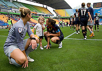 Hope Solo, Rylie Rampone, Christie Rampone. The USWNT defeated Canada, 1-0, at Suwon World Cup Stadium in Suwon, South Korea, to win the Peace Queen Cup.