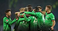 04.02.2018, Football 1. Bundesliga 2017/2018, 21.  match day, Hamburger SV - Hannover 96, Volksparkstadium Hamburg. celebration Hannover   0:1 *** Local Caption *** © pixathlon<br /> <br /> +++ NED + SUI out !!! +++