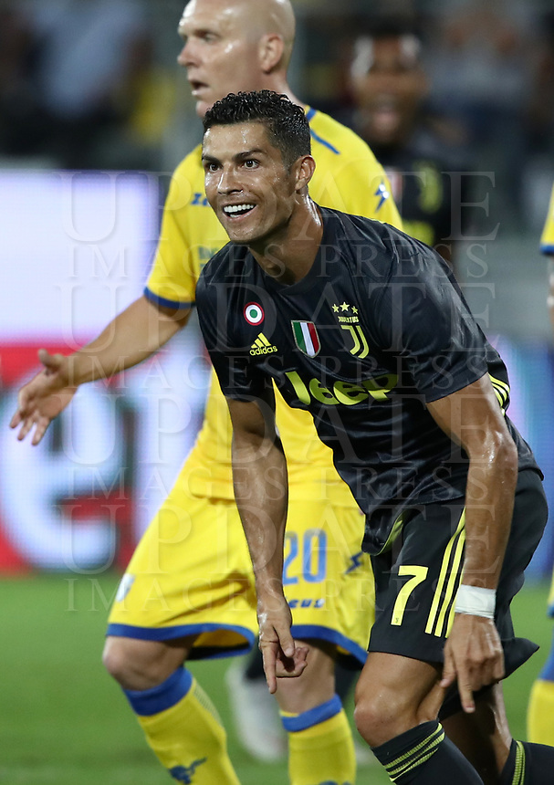Calcio, Serie A: Frosinone-Juventus, Benito Stirpe stadium, Frosinone, September 23, 2018. <br /> Juventus' Cristiano Ronaldo celebrates after during the Italian Serie A football match between Frosinone and Juventus at Frosinone stadium on September 23, 2018.<br /> UPDATE IMAGES PRESS/Isabella Bonotto