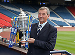 SFA President Campbell Ogilvie at Hampden after the third round draw for the William Hill Scottish Cup