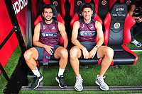 Swansea City's Jordi Amat and Federico Fernandez prior to the Sky Bet Championship match between Sheffield United and Swansea City at Bramall Lane, Sheffield, England, UK. Saturday 04 August 2018