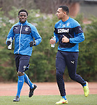 Gael Bigirimana and Remie Streete working on their fitness