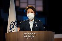 210721 -- TOKYO, July 21, 2021 -- President of the Tokyo Organising Committee of the Olympic and Paralympic Games Tokyo 2020 Seiko Hashimoto speaks during the 138th Session in Tokyo, Japan, on July 20, 2021. The move of adding together into the Olympic motto of faster, higher, stronger was unanimously approved at the 138th session here on Tuesday. /Handout via Xinhua TOKYO2020JAPAN-TOKYO--138TH SESSION-OLYMPIC MOTTO IOC PUBLICATIONxNOTxINxCHN<br /> Photo Imago / Insidefoto ITALY ONLY
