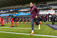 Connor Roberts of Swansea City exits the tunnel to start pre-match warm-up prior to the Sky Bet Championship match between Swansea City and Preston North End at the Liberty Stadium, Swansea, Wales, UK. Saturday 11 August 2018