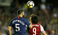 Cary, N.C. - Tuesday March 27, 2018: Cameron Carter-Vickers, Federico Santander during an International friendly game between the men's national teams of the United States (USA) and Paraguay (PAR) at Sahlen's Stadium at WakeMed Soccer Park.