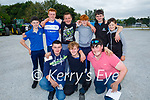 At the Paudie Fitzmaurice Tractor Run in Castleisland on Sunday, kneeling l to r: Conor Lyons (Abbeyfeale), Brian O'Brien (Newcastle) and Ryan James Scanlon (Tournafulla). Back l to r: Brian and Tim Lyons, Ian Lenihan, Conor Lyons, Tom Woulfe (Abbeyfeale) and Darragh Lyons.