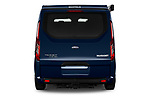 Straight rear view of 2020 Ford Transit-Custom Nugget 4 Door Camper Van Rear View  stock images