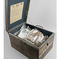 BNPS.co.uk (01202) 558833. <br /> Pic: Fellows/BNPS<br /> <br /> Pictured: Captain Walter Cornock's safety box. <br /> <br /> A stoic letter from a British World War One officer saying he would rather 'die a man's death than feel I had failed' has come to light 104 years on.<br /> <br /> Captain Walter Cornock, of the 12th Battalion, Gloucestershire Regiment, distinguished himself during the Third Battle of Ypres in 1917 and the 1918 German Spring Offensive.<br /> <br /> The correspondence to his father, also named Walter, reveals how he was driven by an enormous sense of duty and was prepared to sacrifice his life for his country.<br /> <br /> The 25 year old, from Gloucester, said this was preferable to taking 'cowardly advantage' of a situation and surviving, adding that people are 'unnecessarily afraid of death'.