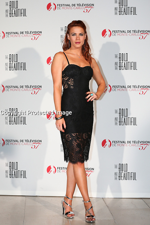 Monte-Carlo, Monaco, 18/06/2017 - 30th Anniversary of 'The Bold and the Beautiful' party Arrival Photocall at the Monte-Carlo Bay, Monaco, during the 57th Monte-Carlo Television Festival. Courtney Hope. # 30EME ANNIVERSAIRE DE 'AMOUR, GLOIRE ET BEAUTE'