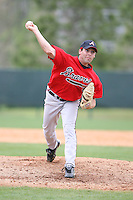 March 22nd 2008:  Matt DeSalvo of the Atlanta Braves minor league system during a Spring Training camp day at Disney's Wide World of Sports in Orlando, FL.  Photo by:  Mike Janes/Four Seam Images