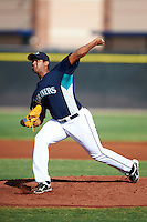 Seattle Mariners minor league pitcher Luiz Gohara #57 during an instructional league game against the San Diego Padres at the Peoria Sports Complex on October 6, 2012 in Peoria, Arizona.  (Mike Janes/Four Seam Images)