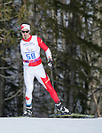 Sochi, RUSSIA - Mar 16 2014 - Louis Fortin competes in Cross Country Skiing Men's 10km Free Standing at the 2014 Paralympic Winter Games in Sochi, Russia.  (Photo: Matthew Murnaghan/Canadian Paralympic Committee)