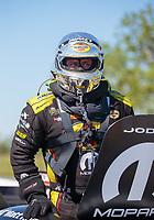 Apr 14, 2019; Baytown, TX, USA; NHRA funny car driver Matt Hagan during the Springnationals at Houston Raceway Park. Mandatory Credit: Mark J. Rebilas-USA TODAY Sports