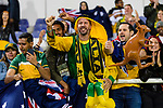 Fans of Australia celebrates after Australia win by a penalty shoot-out in the AFC Asian Cup UAE 2019 Round of 16 match between Australia (AUS) and Uzbekistan (UZB) at Khalifa Bin Zayed Stadium on 21 January 2019 in Al Ain, United Arab Emirates. Photo by Marcio Rodrigo Machado / Power Sport Images