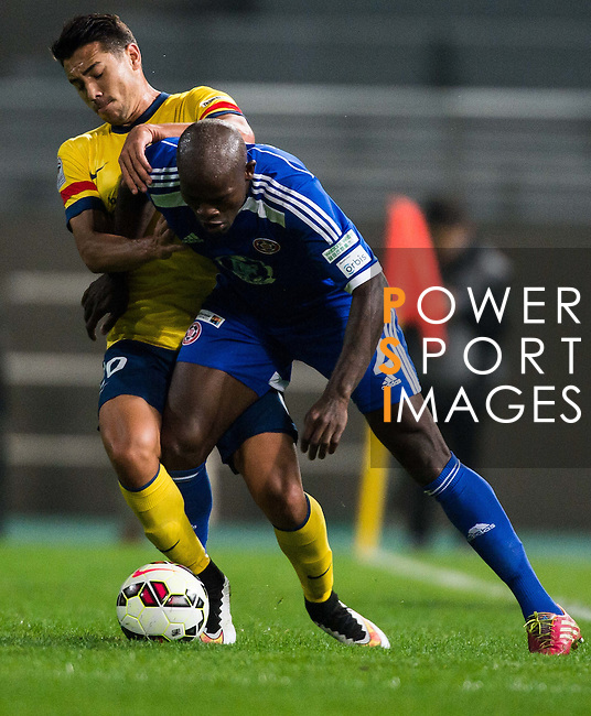 Players in action during the HKFA Premier League between Eastern and Kitchee FC at the Tseung Kwan O Sports Ground on 28 February 2015 in Hong Kong, China. Photo by Aitor Alcalde / Power Sport Images