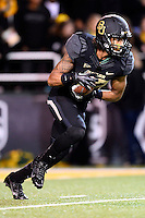Baylor Bears inside receiver Levi Norwood #42 returns a kick during second half of NCAA football game at Floyd Casey Stadium in Waco, TX. Baylor defeats Oklahoma 41-12.